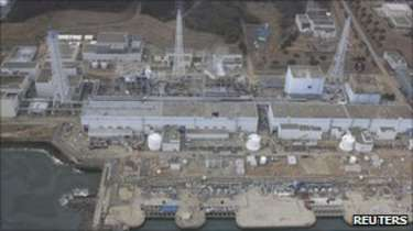 Aerial view of the Fukushima Daiichi nuclear power plant on 30 March 2011