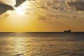 Sunset-Clouds-Boat-Yellow-Sea-Horizon-Ocean-1621581