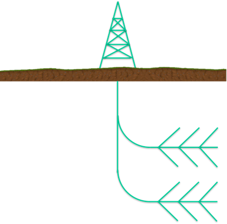 Figure 2. Horizontally spread laterals